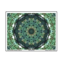 KATMA-Heilstein-Mandala ´Malachit`