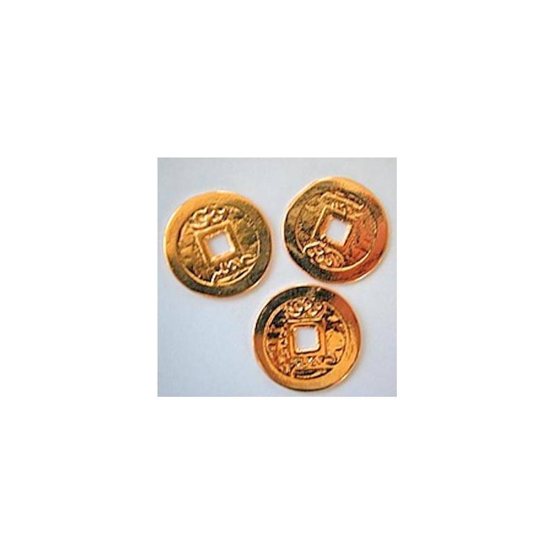 Drei I Ging Glücksmünzen Vergoldet Vitabiente