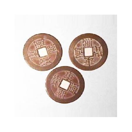 Drei I Ging Münzen antik