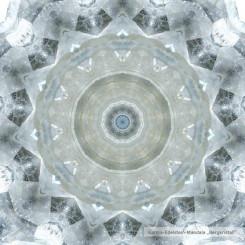 Glasuntersetzer Edelsteinmandala Bergkristall